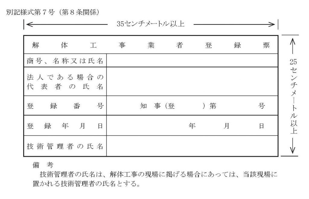 解体_標識